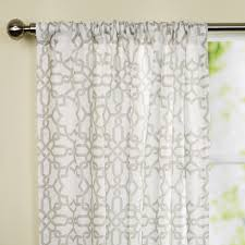 Crushed Sheer Voile Curtains by Illustrious Curtain Rods Tags Blackout Kitchen Curtains Balloon
