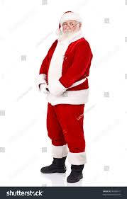 santa claus holding his big belly stock photo 90068017 shutterstock