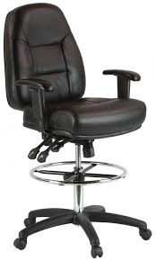 amazon com harwick premium leather drafting chair with arms