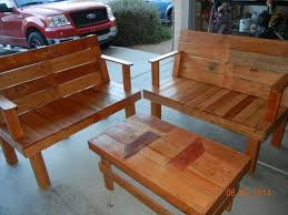 Wooden Outdoor Furniture Plans Free by Wood Pallet Patio Furniture Plans Recycled Things