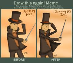 Professor Layton Meme - draw this again professor layton by elenels on deviantart
