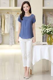 casual wear for women kettymore women summer casual wear lace blouse blue kettymore