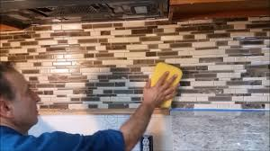 how to grout a kitchen mosaic backsplash part 2 step by step