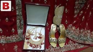 gold set in pakistan bridal langha accessories gold plated jewellery set pencil heel
