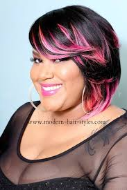 african american hairstyles color streaks black hair with blonde streaks short black hairstyles layered bob