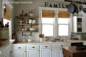 Open Shelf Kitchen by Our Vintage Home Love Reclaimed Wood Kitchen Shelving Reveal