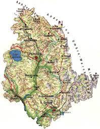 map of perugia umbria perugia central regions