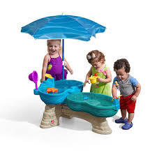 Step2 Party Time Kitchen by Step2 Spill U0026 Splash Seaway Water Table Includes Umbrella For