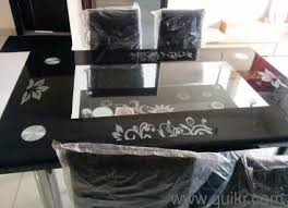 Seat Tempered Glass Top Brand New Dining Table For Sale - Glass top dining table hyderabad