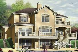 house plans with rear view house plan w3819 detail from drummondhouseplans com