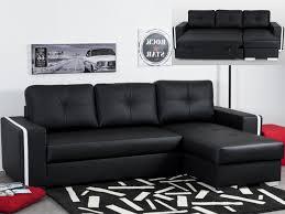 canapé reversible canapé angle convertible et réversible en simili noir faro