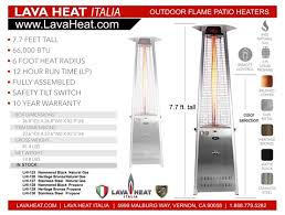 Lava Heat Patio Heaters Lava Heat Italia Commercial Flame Patio Heater With Remote