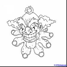 impressive scary skull clown coloring pages with scary coloring