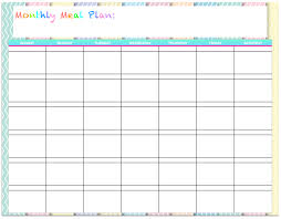 free templates monthly menu planners the housewife modern