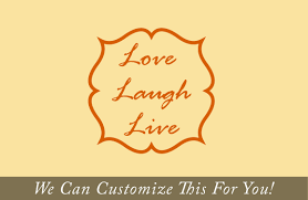 live laugh love words with border a wall decor vinyl lettering