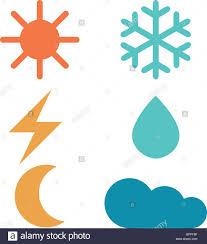 weather forecast signs sun moon rain snow cloud lightning