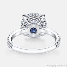 engagement rings with blue stones jean dousset diamonds engagement ring
