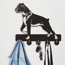 unique robe hooks 1 piece kitchen bathroom modern design boxer dog robe hook 5 hooks