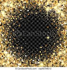 glitter backdrop gold glitter frame with empty space for text scattered vector