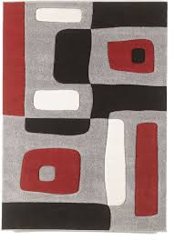 Red Black White Area Rugs Red Area Rug That You Should Set For Minimalist House Ruchi Designs