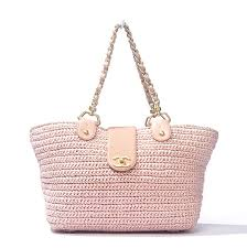 Light Pink Leather Purse 949 00 Chanel Pink Straw Bag This Is An Authentic Chanel Purse