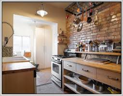 Classic Kitchen Backsplash Faux Brick Backsplash In Kitchen Kenangorgun Com