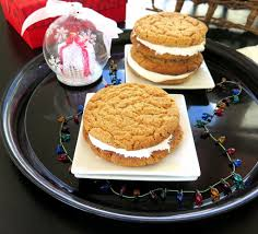 peanut butter marshmallow cookies christmascookies