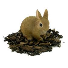 baby rabbit resin garden ornament 4 99 garden4less uk shop
