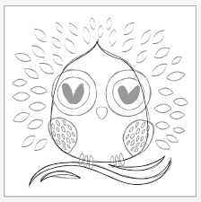 create a simple owl tote design in illustrator for foil printing