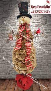 5ft primitive burlap snowman tree project visit us at www