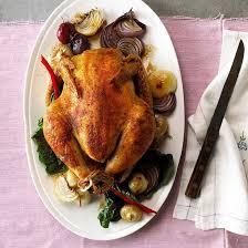 thanksgiving menu roast chicken dinner
