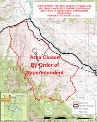 Yellowstone Map Usa by Area Closure Instituted Around Stephens Creek Yellowstone