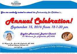 the partnership for children u0027s 2016 annual celebration