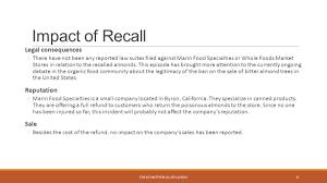 marin foods organic almonds recall etm 627 matthew callier 11 30