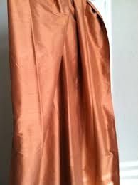 copper dupioni silk 2 lined drapery panels 42 x 84 each euc