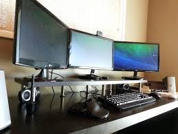 best corner desk for 3 monitors 3 monitor computer desk computer desk for 3 monitors corner triple