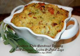 cornbread dressing with sausage apples and