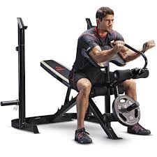 What Do Bench Presses Work Out Gold U0027s Gym Xrs 20 Olympic Workout Bench And Rack Walmart Com