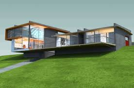 front sloping lot house plans modern steeply hillside sloping house design idea plans
