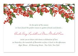 berries and holly holiday invitations by invitation consultants