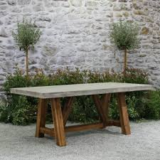 concrete and wood outdoor table bordeaux concrete top table 8 teak outdoor furniture outdoor