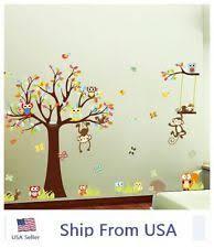 Nursery Wall Decorations Removable Stickers Removable Wall Decals Tree Owl Bedroom Baby Nursery Stickers