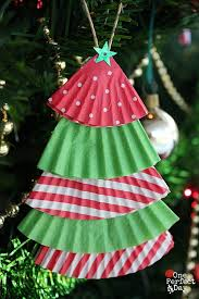 Homemade Christmas Tree Decorations Cupcake Liner Christmas Tree Ornaments