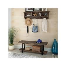 Cubby Wall Shelf by Alaterre Pomona Wood Bench U0026 Coat Hook Cubby Wall Shelf 2 Piece