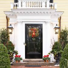 exterior exquisite decorating ideas using green wall lanterns and