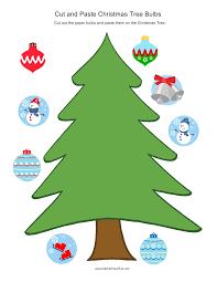 cut and paste christmas tree bulbs christmas activities with diy