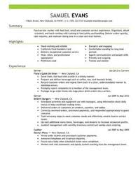 Example Of Server Resume by 9 Resume Examples For College Students With Work Experience