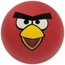 red angry bird angry birds balls ebonite