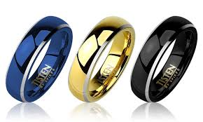 titanium wedding rings review men s high two tone tungsten and titanium wedding bands