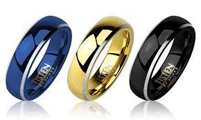 titanium wedding band reviews men s high two tone tungsten and titanium wedding bands
